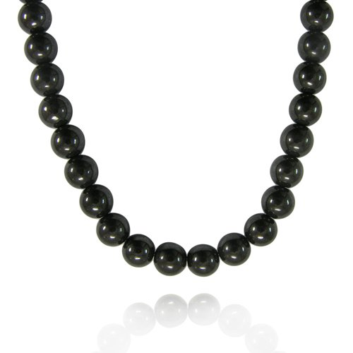 8mm Round Hematite Bead Necklace, 16+2