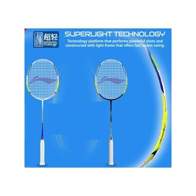 Li-Ning Code Red 10 Windstorm Carbon Fiber Badminton Racquet, Size S2 (Lime/White)
