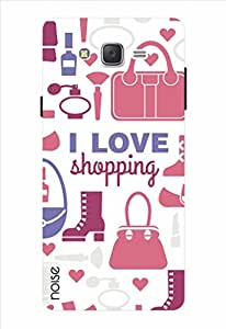 Noise I Love Shopping - White Printed Cover for Samsung Galaxy J2