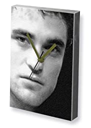 ROBERT PATTINSON - Canvas Clock (LARGE A3 - Signed by the Artist) #js001