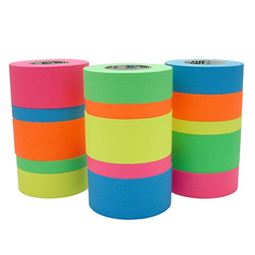 Pro Tapes Pro-Gaff-Neon Premium Fluorescent Gaffers Tape: 1 in. x 50 yds. (Fluorescent Pink)