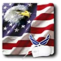 3dRose LLC 8 x 8 x 0.25 Inches Mouse Pad, Usaf Air Force (mp_965_1)