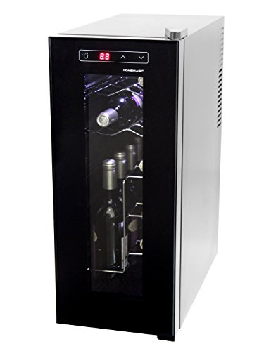 Homeimage thermo electric wine cooler for 12 bottles for Modern homes 8 bottle wine cooler