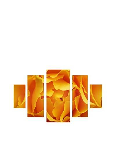 "Kurt Shaffer ""Hypnotic Yellow Rose"" 5-Panel Canvas Set"