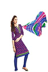 mayur blue colored dress material