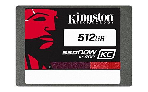 "Kingston KC400 SSDNow da 512 GB, SATA III, 2.5"", 7 mm di Spessore, Argento"