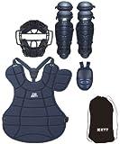 ZETT(ゼット) 軟式防具4点セット(専用収納袋付き) BL301SET ネイビー フリー