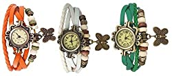 Swiss Rock Vintage 3 Color Analog Watch - For Women