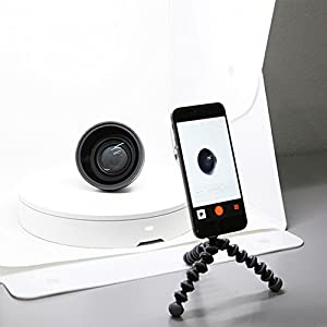 Orangemonkie STUDIO SET – Foldio 2 Folding Portable Tabletop Studio Included with Shooting Tent Lighting AND Foldio360 Smart Turntable for 360 Degree Images for Smartphone or DSLR Camera Photography (Tamaño: Foldio 2 Studio with Foldio360)