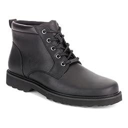 Rockport Men\'s Northfield WP Plain Toe Chukka Boot, Black Waterproof, 8.5 W US