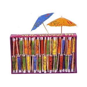 Click to buy Wedding Reception Decoration Ideas: Parasol Umbrella Picks from Amazon!