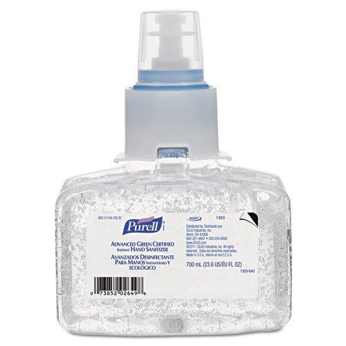 PURELL Advanced Green Certified Instant Hand Sanitizer Refill Gel, 700 mL, LTX7