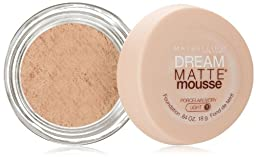 Maybelline New York Dream Matte Mousse Foundation, Porcelain Ivory, 0.64 Ounce