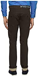 White House Jeans Men's Slim Fit Chinos (WH16ST01, Brown, 34)