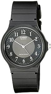 Casio Men's MQ24-1B3 Watch with Black Rubber Band