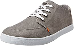 Hub Mens Boss C6 Cl Grey and White Canvas Sneakers