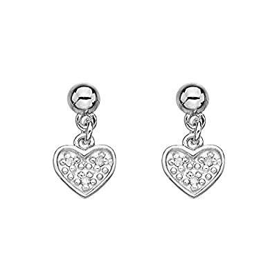 Hot Diamonds Stargazer Plated Sterling Silver Heart Earrings