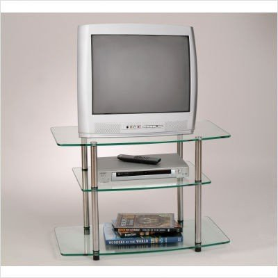 Convenience Concepts Classic Glass TV Stand - Fits up to 32-Inch TV