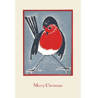 Robin Pack of 10 Christmas Cards (Rectangle)||RF10F