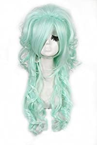 L-email 70cm/27.56inch Long 5 Colors Wave Cosplay Wig Zy65