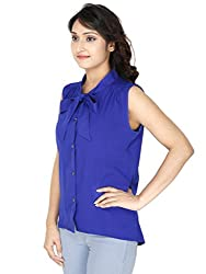 Gugg Women's Self Design Top [GS16A91_BLUE]