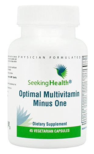 Seeking Health | Optimal Multivitamin Minus One | Daily Multivitamin | Multivitamin for Men | Multivitamin for Women | 45 Vegetarian Capsules