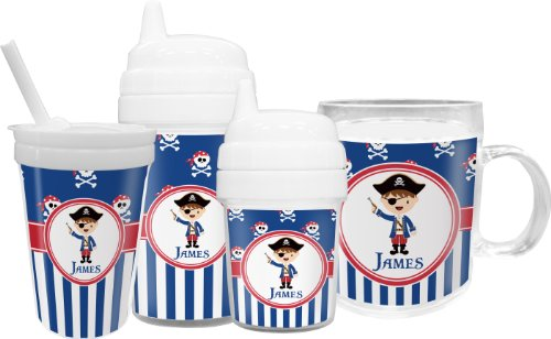 Blue Pirate Sippy Cup With Straw front-649137