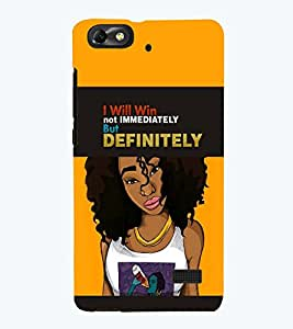 PRINTSWAG GIRL WITH QUOTE Designer Back Cover Case for HUAWEI HONOR 4C