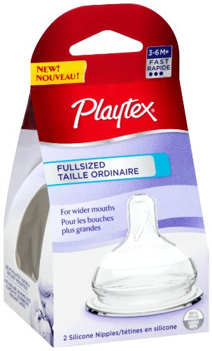 Playtex Full-Sized Nipple, Fast Flow, 2-Count front-928406