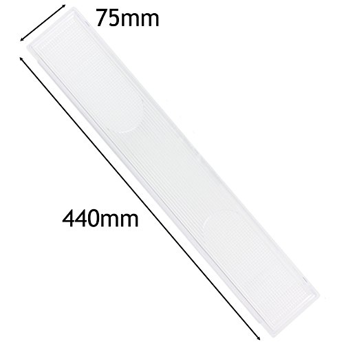 Spares2go Cooker Hood Light Diffuser / Lens Cover Plate (440Mm X 75Mm) (Lens Hood 75mm compare prices)