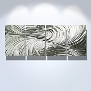Amazon.com - Contemporary Metal Wall Art, Modern Home Décor ...
