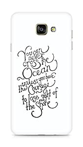 AMEZ you can never cross the Ocean Back Cover For Samsung Galaxy A7 (2016 EDITION)