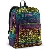 JanSport Superbreak School Backpack (Black Animal Frenzy)