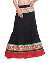 Cotton Black Skirt With Gotta Border (only Front)