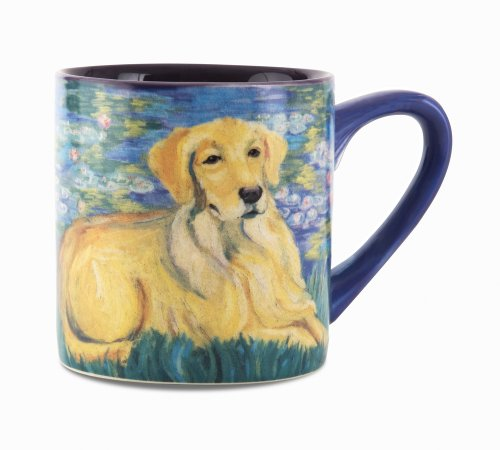Paw Palettes Golden Retriever Bonet Ceramic Mug, 16-Ounce front-426884