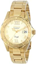 Invicta Angel Women's Quartz Watch with Gold Dial  Analogue display on Gold Plated Bracelet 14397