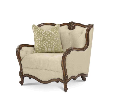 AICO Lavelle Melange Wood Trim Chair and a Half 54838-BISQU-34 (Sofa With Wood Trim compare prices)