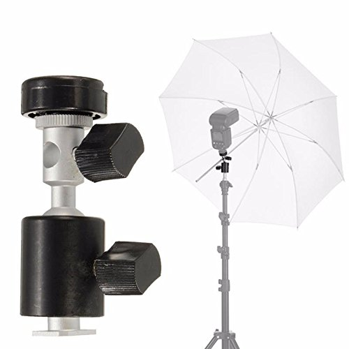 C Type 360 Degree Swivel Flash Shoe Umbrella Holder Light Stand Tripod Bracket Adapter (Umbrella Foto compare prices)
