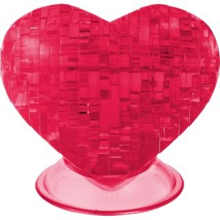 Cheap Fundex Fundex Games Red Heart – 3D Jigsaw Puzzle – Clearly Puzzled (difficulty 7 of 10) (B00415EJOS)