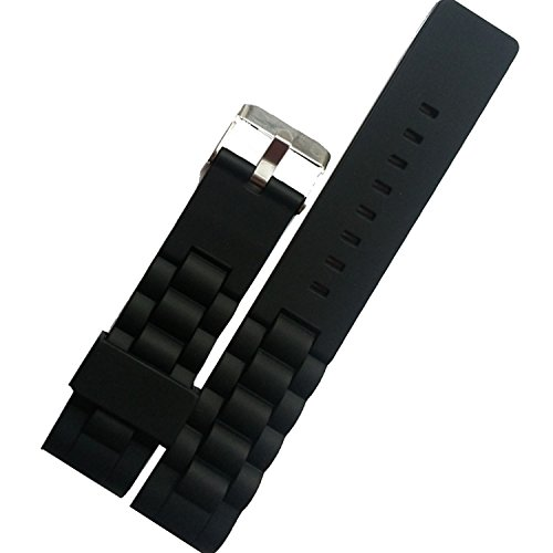 new-incurve-en-silicone-bracelet-de-montre-diver-fermoir-boucle-noir-22-mm-etanche