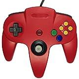 echange, troc abcGOODefg® Wired Vidéo Gamepad Controller Console Joystick pour Nintendo N64 (Rouge)