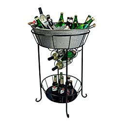 Artland Oasis Party Station, Galvanized, Metal