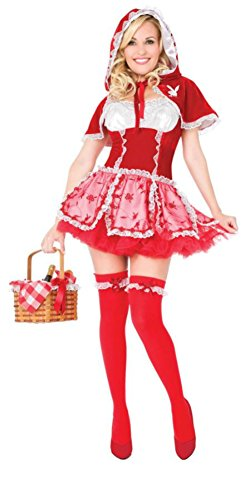 Playboy Womens Little Red Vixen Riding Hood Outfit Fancy Dress Sexy Costume