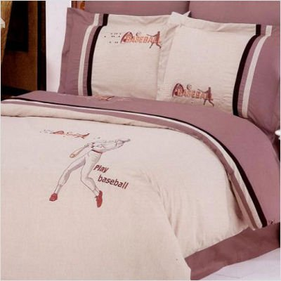Le Vele Baseball - Embroidered Duvet Cover Bed