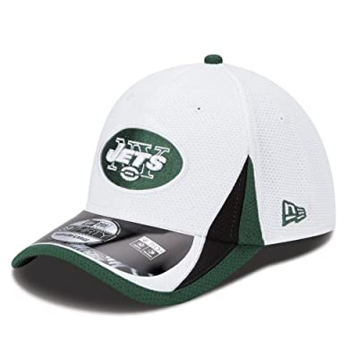 New York Jets New Era 39THIRTY 2013 Official Training Flex Fit Hat - White