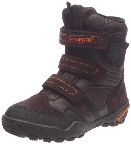 KangaROOS Boys Wulf Boots 10938/305 Chocolate/Blk 2.5 UK