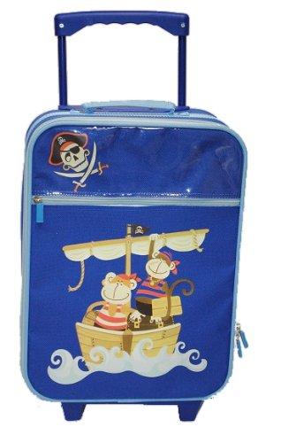 Trolley Pirat Motiv für Kinder – blau Trolly