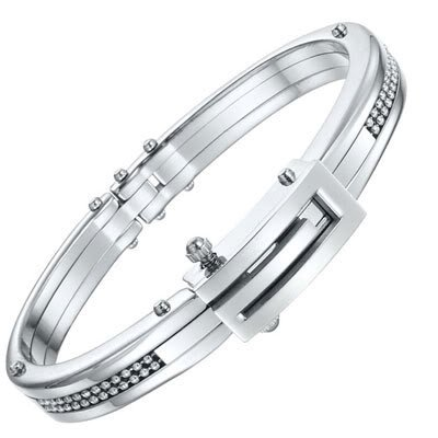 Mens RnB Jewelry Solid Stainless Steel Handcuff Bangle Bracelet