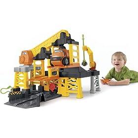 (好玩)Fisher-Price Big Action Construction Site 费雪远程控制建筑工地,$35.49