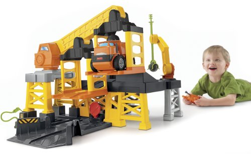 Large Construction Toys For Boys : Fisher price big action construction site with remote